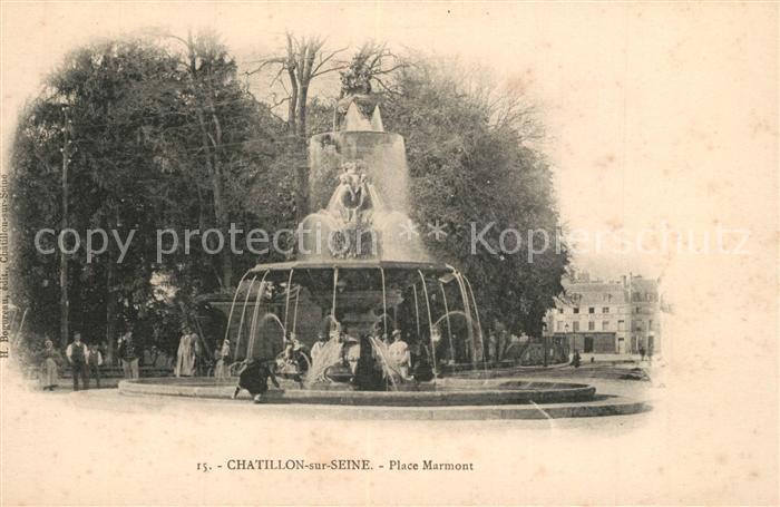AK / Ansichtskarte Chatillon sur Seine Place Marmont Chatillon sur Seine