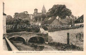 AK / Ansichtskarte Chatillon sur Seine Le Perthuis au Loup Eglise Sasint Vorles Chatillon sur Seine