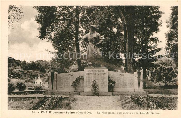 AK / Ansichtskarte Chatillon sur Seine Le Monument aux Morts de la Grande Guerre Chatillon sur Seine