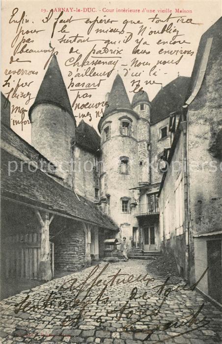 AK / Ansichtskarte Arnay le Duc Cour interieure d une Vieille Maison Arnay  le Duc