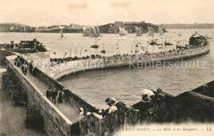 AK / Ansichtskarte Saint Malo_Ille et Vilaine_Bretagne Le Mole et les Remparts Saint Malo_Ille et Vilaine