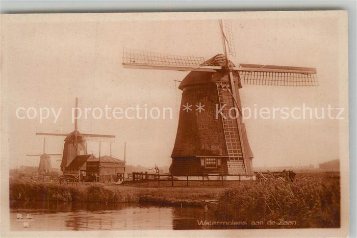 AK / Ansichtskarte Zaanstad Watermolens Wassermuehlen Windmuehle Zaanstad
