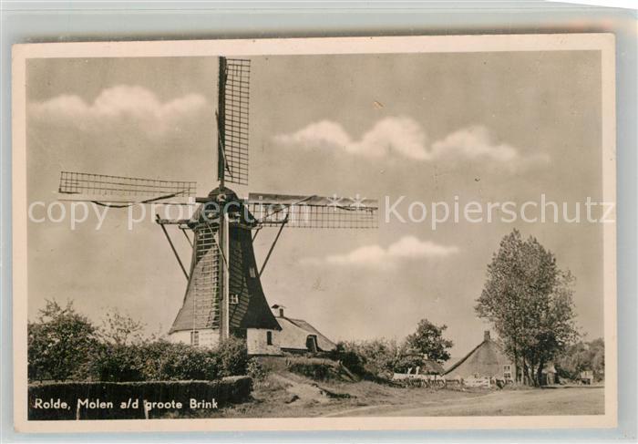 AK / Ansichtskarte Rolde Molen a d groote Brink Windmuehle Rolde