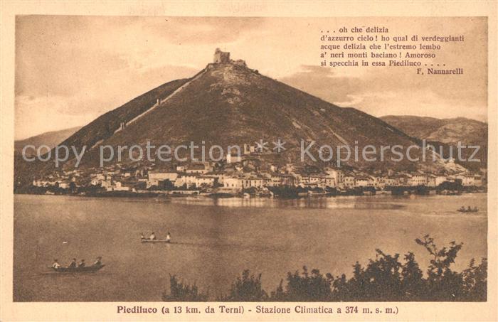 AK / Ansichtskarte Terni Piediluco Stazione Climatica Terni