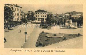 AK / Ansichtskarte Conegliano Monumento ai Caduti Piazza IV Novembre Conegliano