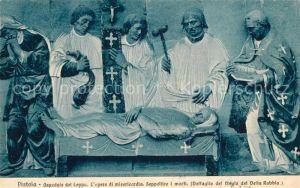 AK / Ansichtskarte Pistoia Ospendale del Ceppo opere di misericordia Seppelice I morti Pistoia