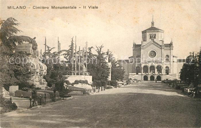 AK / Ansichtskarte Milano Cimitero Monumentale Viale Milano