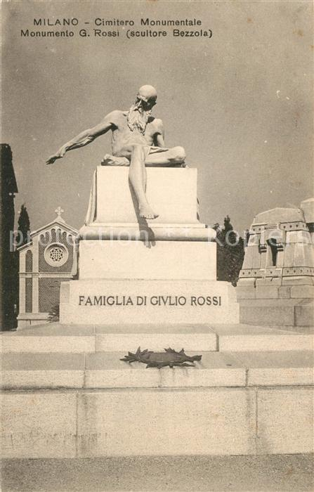 AK / Ansichtskarte Milano Cimitero Monumentale Monumento Giulio Rossi Milano