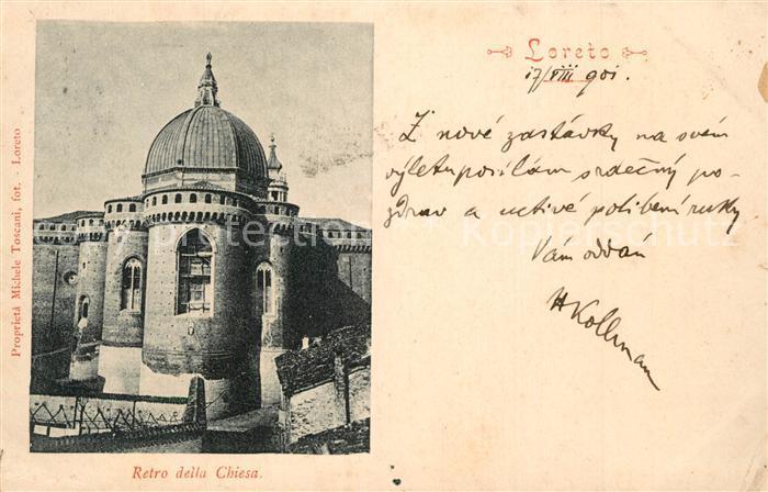 AK / Ansichtskarte Loreto_Ancona Retro della Chiesa Loreto Ancona