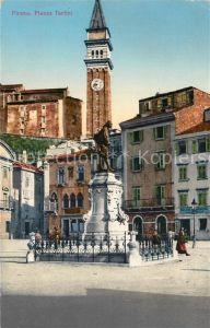 AK / Ansichtskarte Pirano Piazza Tartine Kuenstlerkarte Pirano