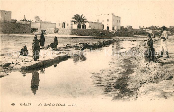 AK / Ansichtskarte Gabes Bord Oued Gabes