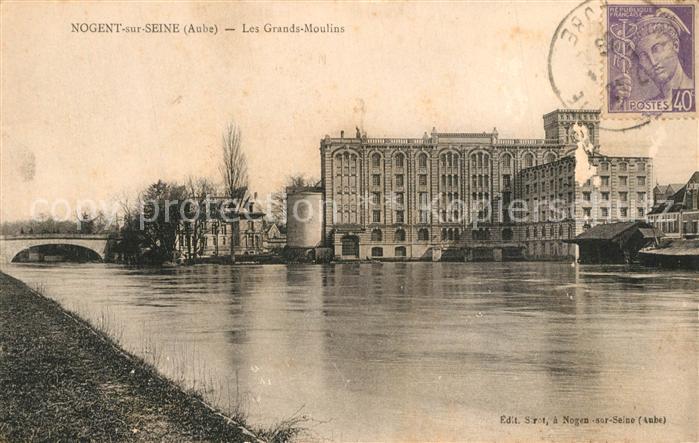 AK / Ansichtskarte Nogent sur Seine Les Grands Moulins Nogent sur Seine