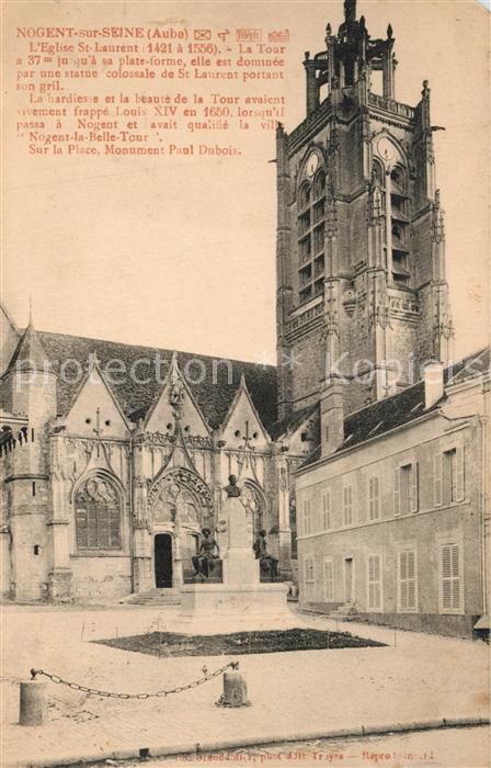 AK / Ansichtskarte Nogent sur Seine Eglise Saint Laurent La Tour Nogent sur Seine