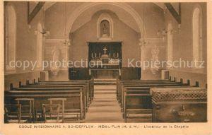 AK / Ansichtskarte Menil la Tour Ecole Missionaire Schoeffler Interieur de la Chapelle Menil la Tour