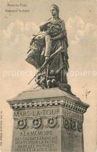 AK / Ansichtskarte Mars la Tour Monument National Mars la Tour