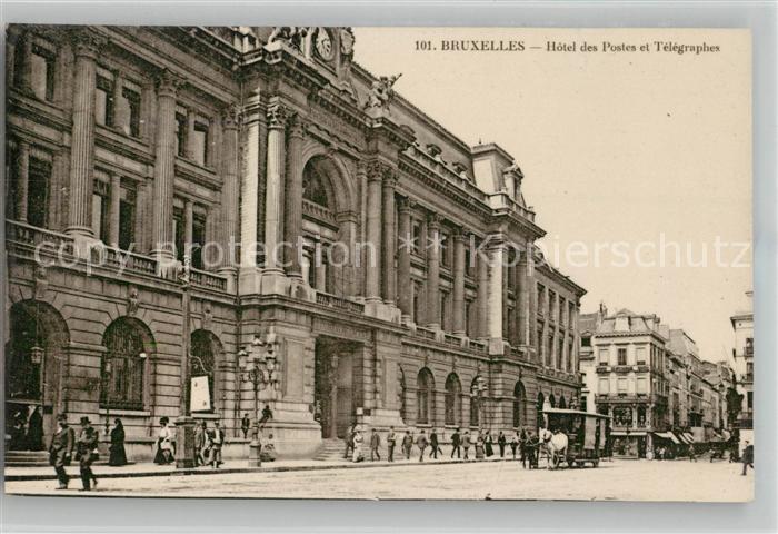 AK / Ansichtskarte Bruxelles_Bruessel Hotel des Postes et Telegraphes Bruxelles_Bruessel
