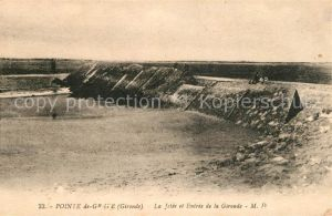 AK / Ansichtskarte Pointe_de_Grave La Jetee et Entree de la Gironde Pointe_de_Grave