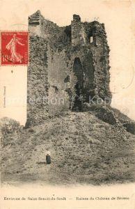 AK / Ansichtskarte Saint Benoit du Sault Ruines du Chateau de Brosse Saint Benoit du Sault
