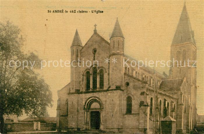 AK / Ansichtskarte Saint Andre le Gaz Eglise Saint Andre le Gaz