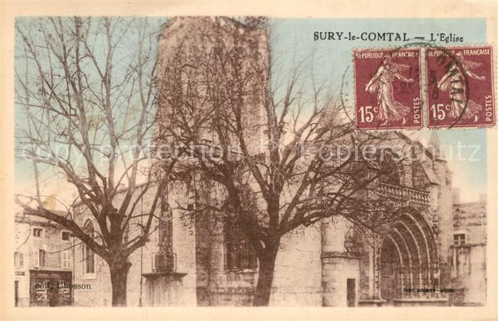 AK / Ansichtskarte Sury le Comtal Eglise Sury le Comtal
