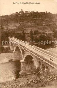 AK / Ansichtskarte Villerest Pont et village Villerest