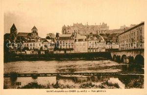 AK / Ansichtskarte Saint Aignan_Loir et Cher Vue generale Pont Eglise Saint Aignan Loir et Cher