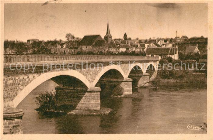 AK / Ansichtskarte Mennetou sur Cher Vue generale Pont du Cher Mennetou sur Cher 0