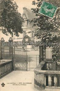 AK / Ansichtskarte Saint Aignan_Loir et Cher Entree du Chateau Saint Aignan Loir et Cher