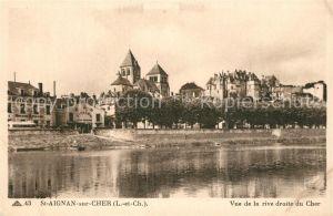 AK / Ansichtskarte Saint Aignan_Loir et Cher Vue de la rive droite du Cher Saint Aignan Loir et Cher