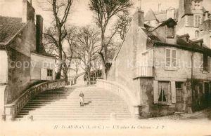 AK / Ansichtskarte Saint Aignan_Loir et Cher Escalier du Chateau Saint Aignan Loir et Cher