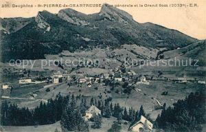 AK / Ansichtskarte Saint Pierre de Chartreuse Vue generale et le Grand Som Alpes Saint Pierre de Chartreuse
