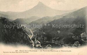 AK / Ansichtskarte Saint Pierre de Chartreuse Panorama Massif de la Chartreuse Mont Chamechaude Alpes Saint Pierre de Chartreuse