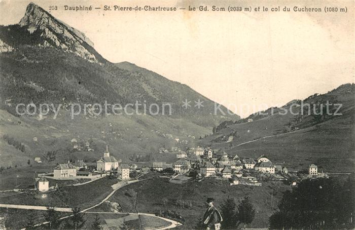 AK / Ansichtskarte Saint Pierre de Chartreuse Panorama Grand Som Col du Cucheron Alpes Saint Pierre de Chartreuse