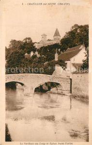AK / Ansichtskarte Chatillon sur Seine Le Perthuis au Loup Eglise Saint Vorles Chatillon sur Seine