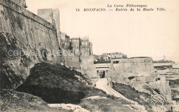 AK / Ansichtskarte Bonifacio_Corse_du_Sud Entree de la Haute Ville Bonifacio_Corse_du_Sud