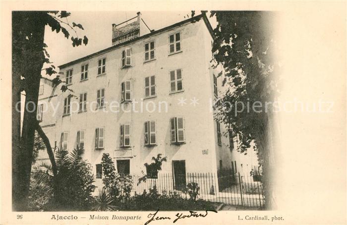 AK / Ansichtskarte Ajaccio Maison Bonaparte Ajaccio