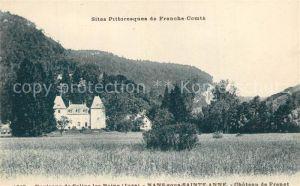 AK / Ansichtskarte Nans sous Sainte Anne Chateau de Frenet Nans sous Sainte Anne