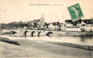 AK / Ansichtskarte Beaumont sur Oise Panorama Pont Beaumont sur Oise