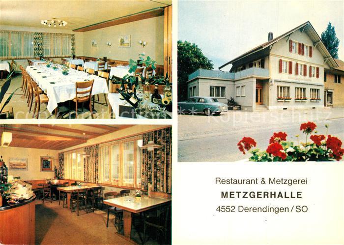 AK / Ansichtskarte Derendingen_SO Restaurant Metzgerei Metzgerhalle Derendingen SO