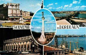 Bordeaux Place et Allees de Tourny Pont de Pierre Monument des Girondins Grand Theatre La Rade Bordeaux