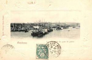 Bordeaux La rade prise du pont de pierre Bordeaux