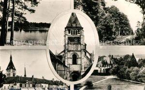 AK / Ansichtskarte Lorris Eglise Etang des Bois Route des Mitonnieres Chateau du Bignon Place du Martroy Lorris