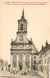 AK / Ansichtskarte Nancy_Lothringen Eglise de Bonsecours Elevee par Here et par ordre de Stanislas Nancy Lothringen