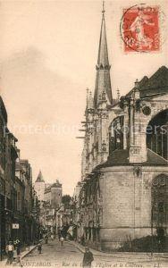 AK / Ansichtskarte Montargis_Loiret Rue de Loire Eglise et le Chateau Montargis Loiret