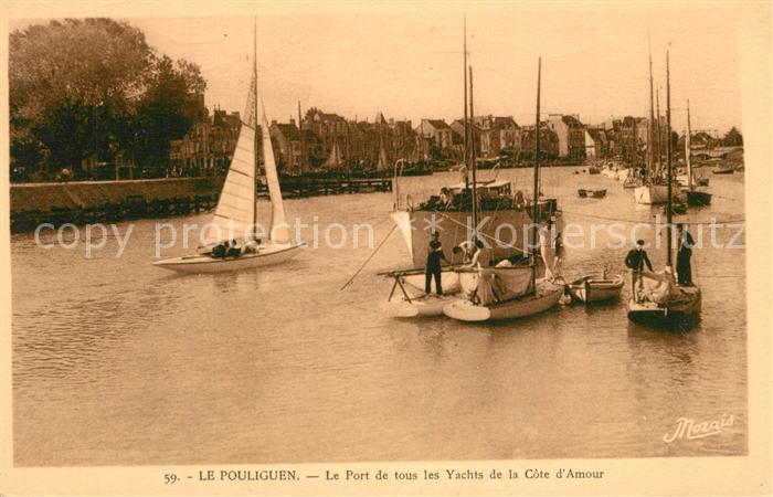 AK / Ansichtskarte Le_Pouliguen Le Port de tous les yachts de la Cote d Amour Le_Pouliguen