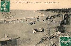 AK / Ansichtskarte Saint Brevin les Pins Panorama de la plage de Saint Brevin a Mindin Saint Brevin les Pins