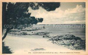 AK / Ansichtskarte Saint Brevin l_Ocean_Loire_Atlantique Pins et rochers du Pointeau plage Saint Brevin l_Ocean