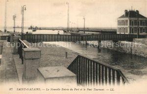 AK / Ansichtskarte Saint Nazaire_Loire Atlantique Nouvelle Entree du Port et Pont Tournant Saint Nazaire
