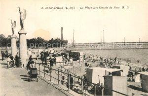 AK / Ansichtskarte Saint Nazaire_Loire Atlantique La plage vers l entree du port Saint Nazaire