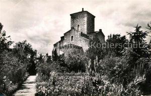 AK / Ansichtskarte Germigny des Pres Eglise Abside vue du jardin du Presbytere Germigny des Pres